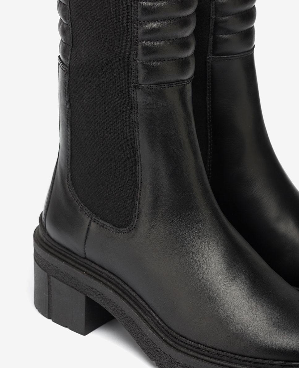 UNISA Bottines noires avec plateforme rembourrées JINA_NF black 3