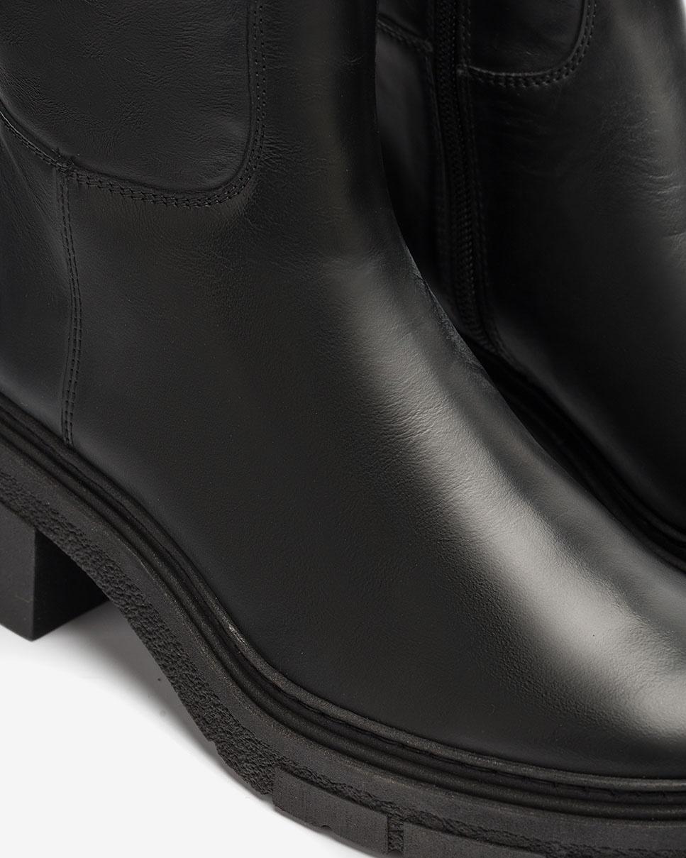 UNISA Bottes en cuir semelle track JOSUA_NF black 3
