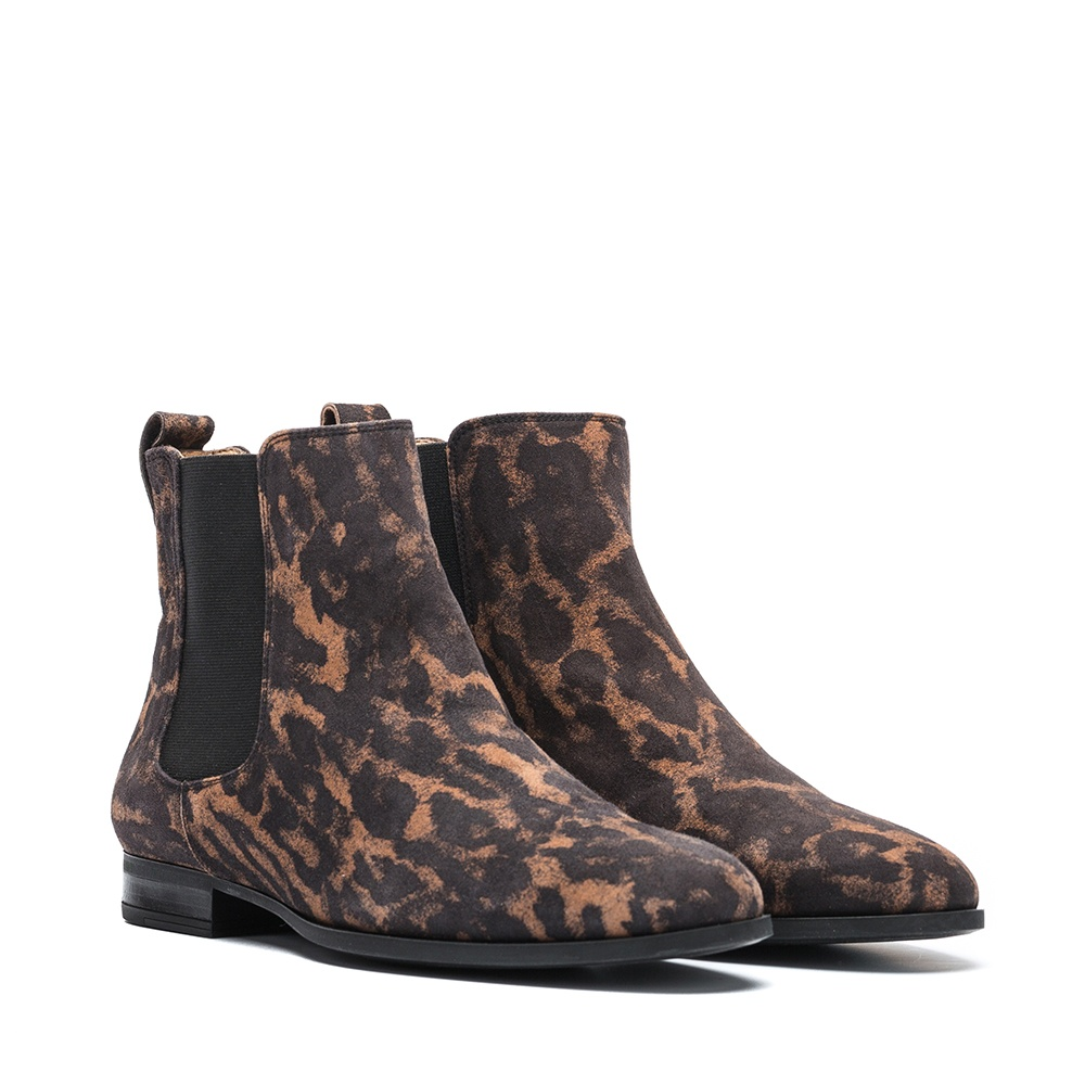 UNISA Bottine chelsea animal print DIA_JA tan 3
