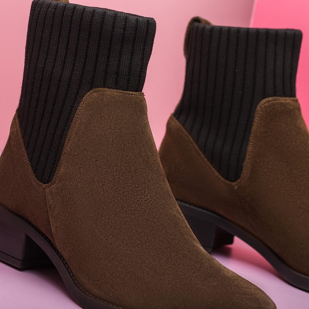 UNISA Bottine avec chaussette élastique ELLEN_BS hunter 3