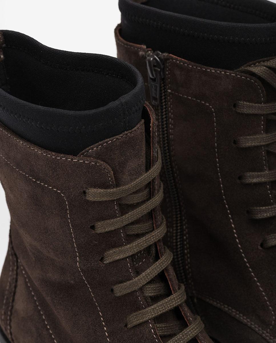 UNISA Bottines à lacets avec chaussette ELMER_BS rhino 3