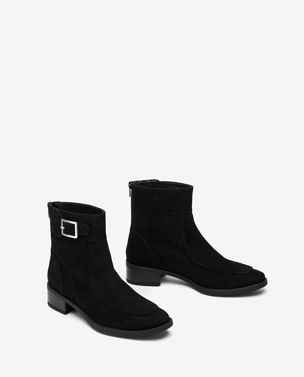 UNISA Bottines noires en daim ENDO_KS black 3