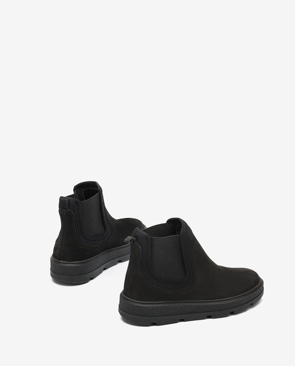 UNISA Bottines noires chelsea contraste FLEET_BLU_SCU black 3