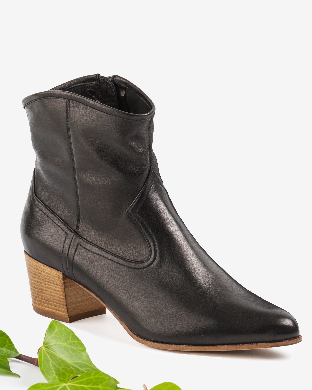 UNISA Bottine cowboy cuir GALVEZ_VU black 3