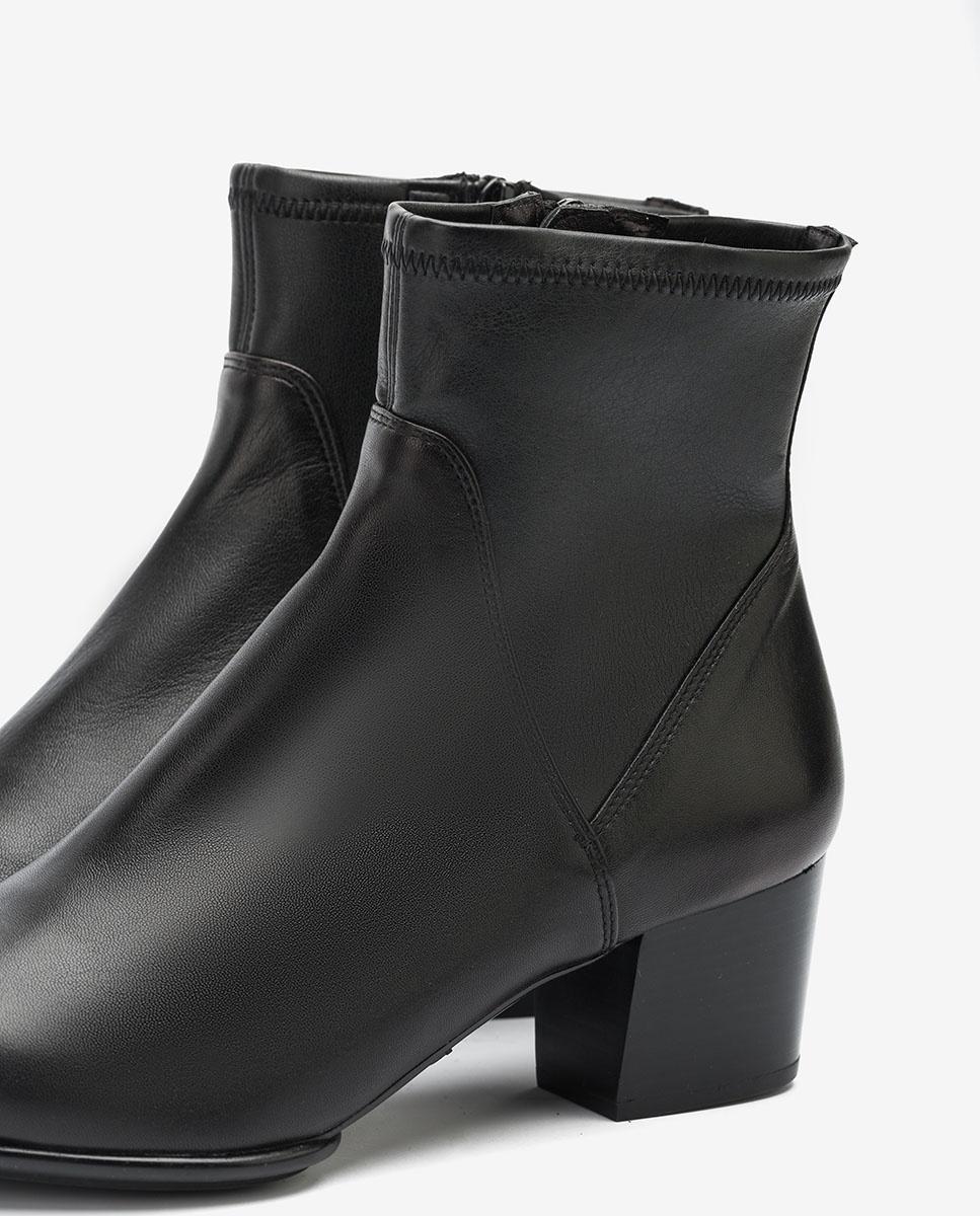 UNISA Bottines noires avec haut élastique JUANDE_VU_STN black 3