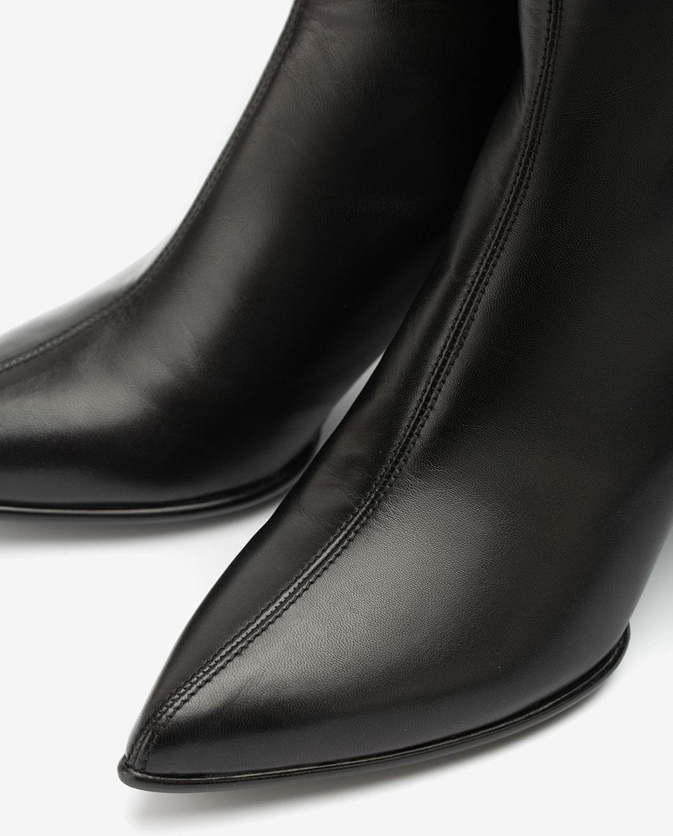 UNISA Bottines en cuir pointe fine KRUZ_NA black 3