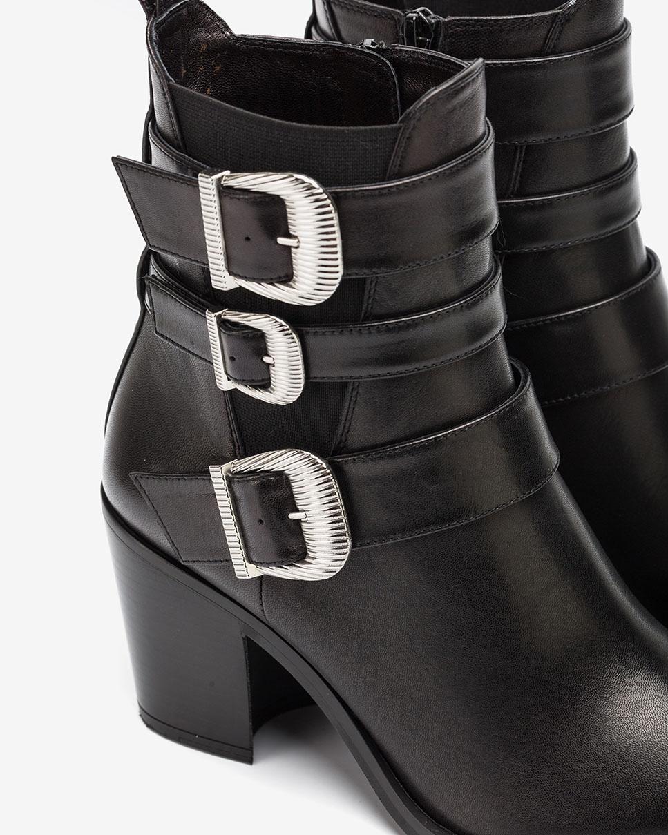 UNISA Bottines noire cowboy avec boucles MARCHA_VU black 3