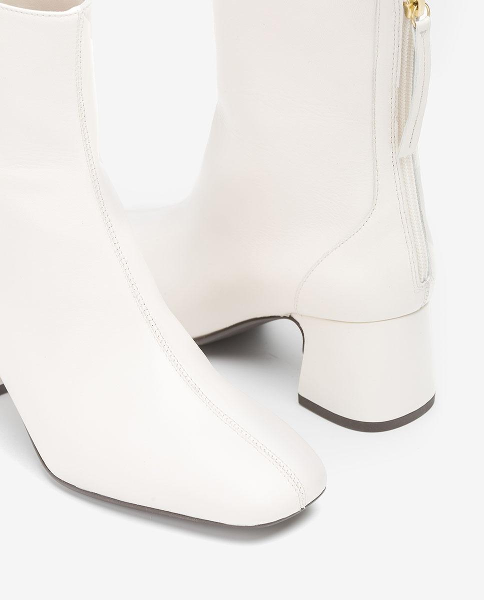 UNISA Bottines blanches en cuir MONCADA_VU ivory 3