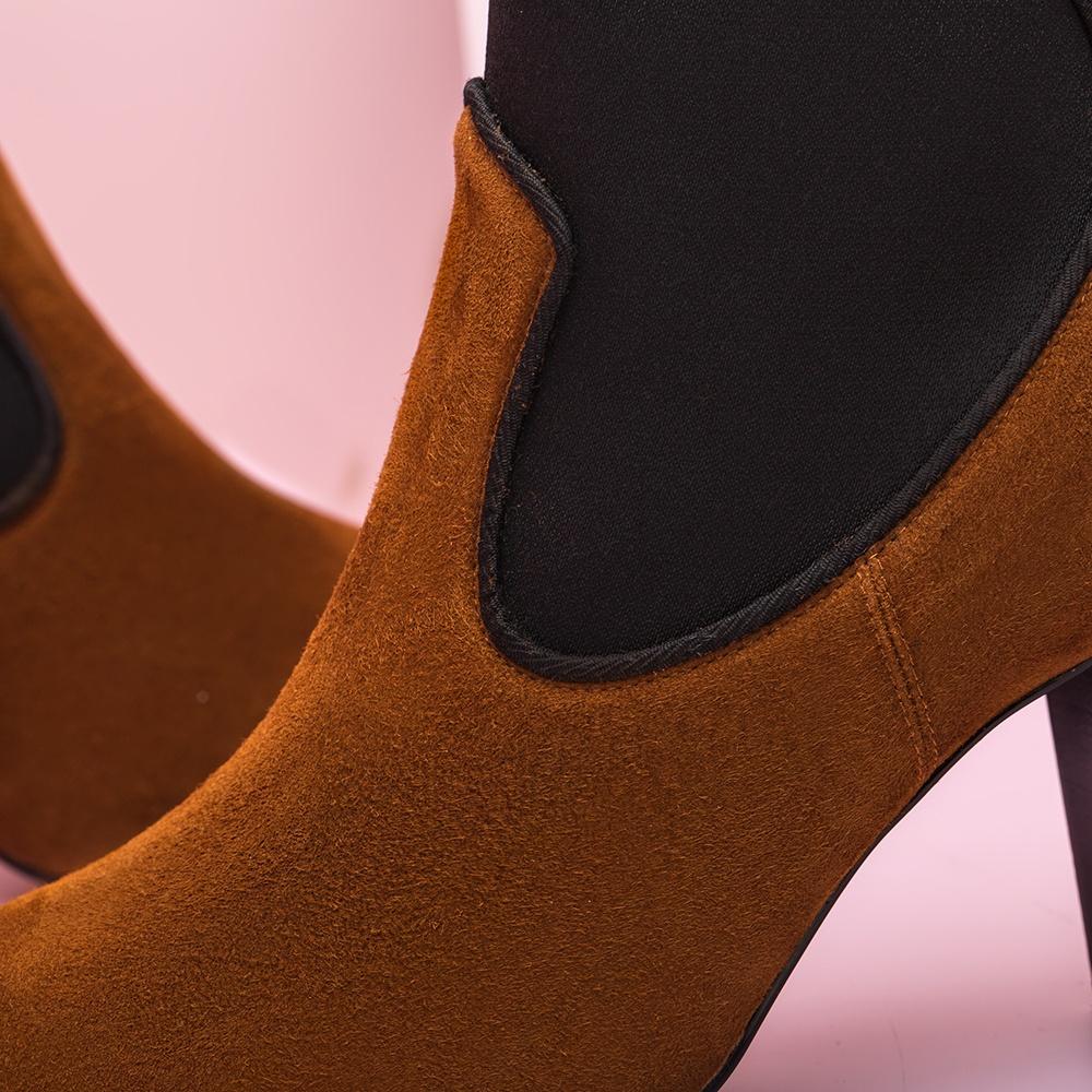 UNISA Bottine marron détail élastique  NALIA_KS toast 3