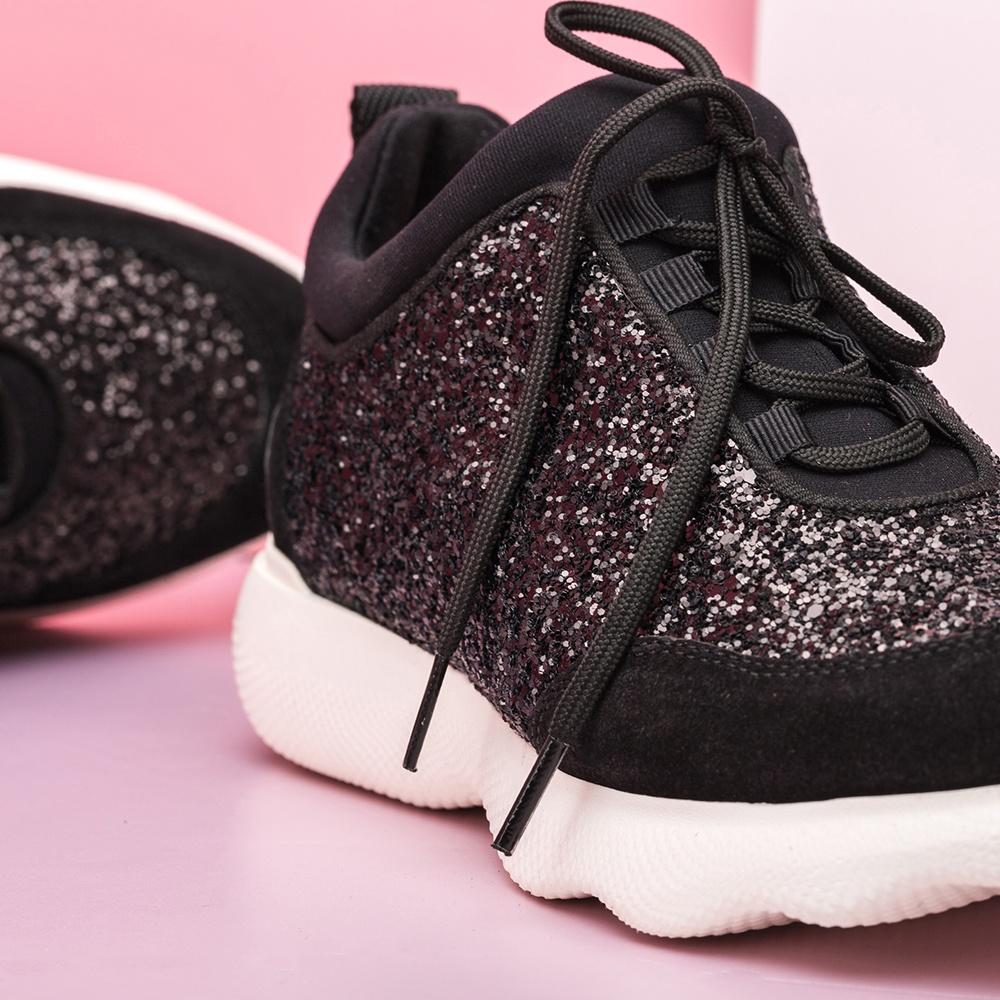 UNISA Chaussure de sport noire glitter EMERY_GL black 3