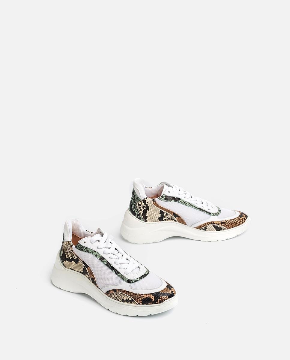 UNISA Chaussure de sport serpent volume ESCACE_20_VIP white/sunt 3