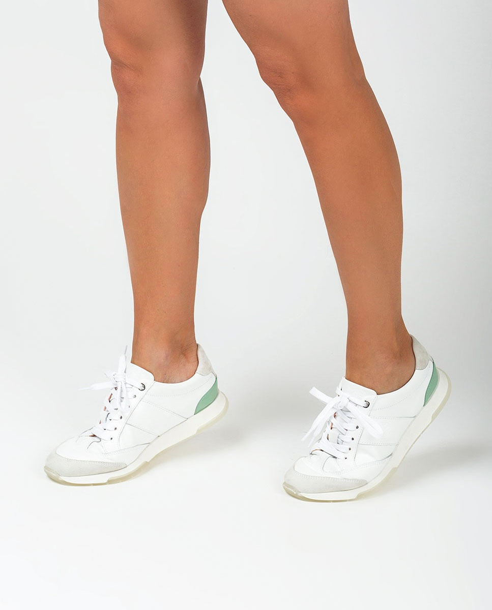 UNISA Chaussure de sport monogramme contraste FALCONI_NF_PA white/mint 3