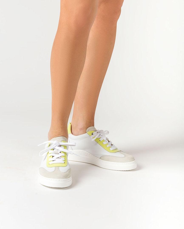 UNISA Chaussure de sport blanche décoration couleur FELIS_NF_PA white/lime 3