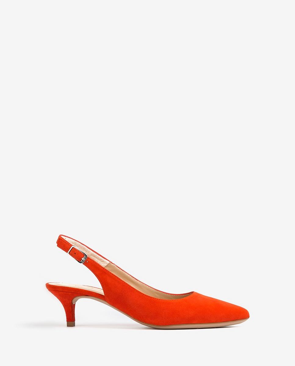 UNISA Chaussure ouverte noire bout pointu JAMAL_KS corallo 3