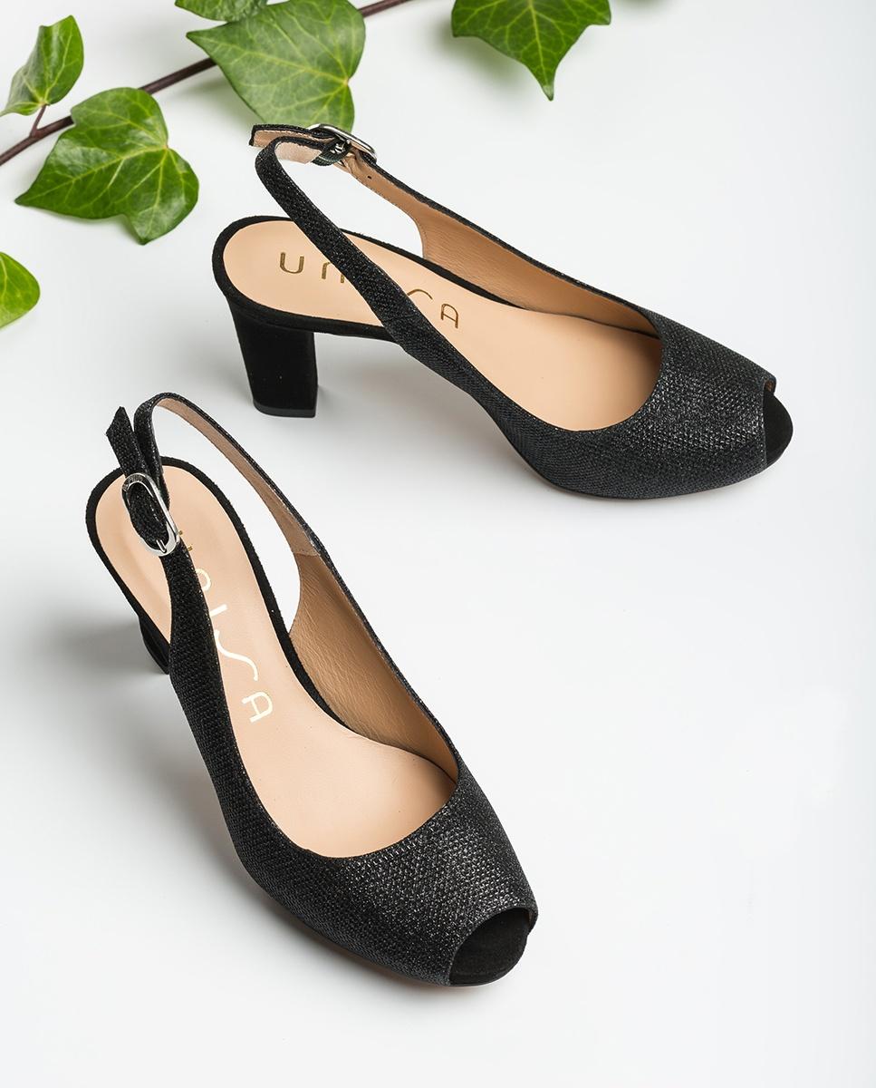 UNISA Peep toe ouverts brillant NICKA_CLAS_20_EV_KS black 3