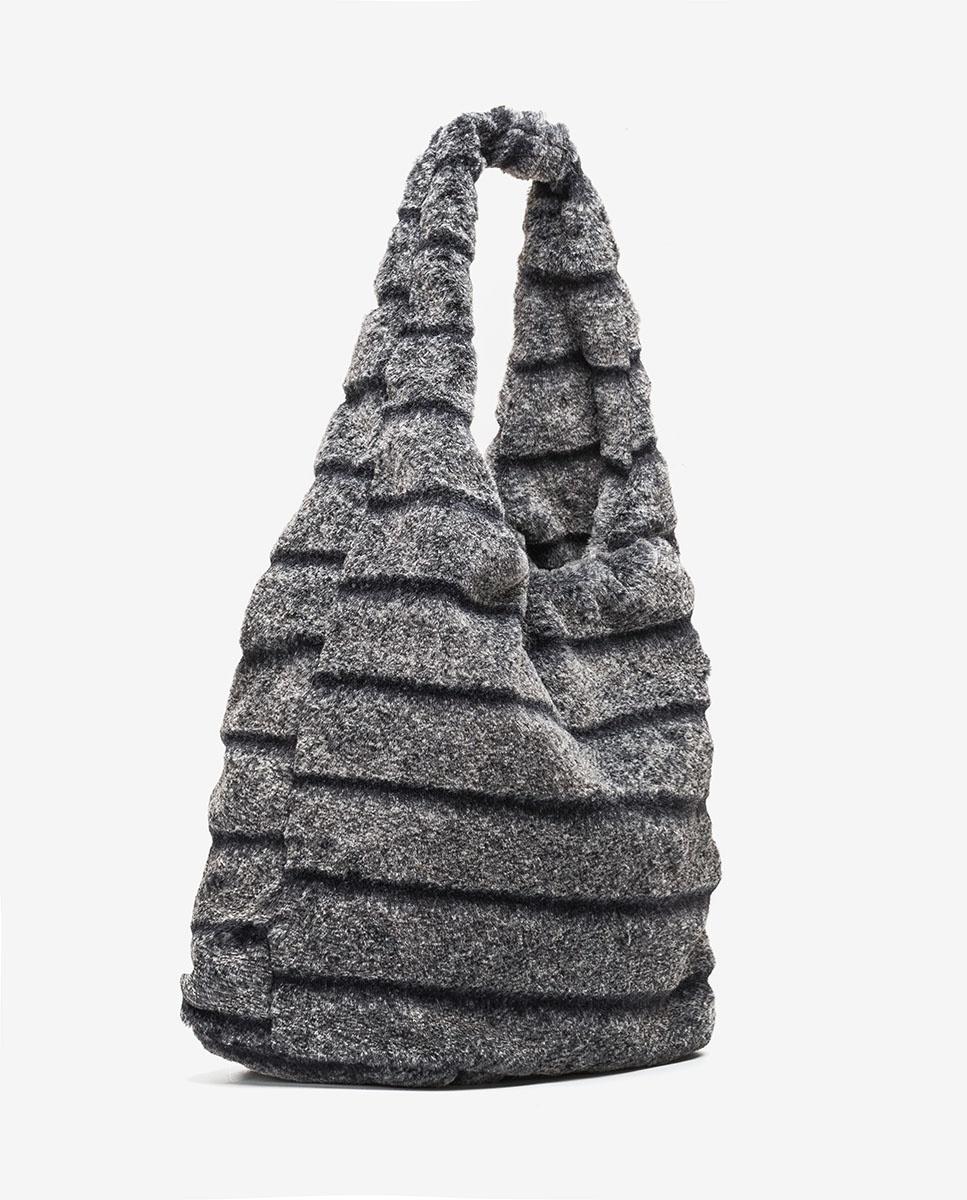 UNISA Tote bag fourrure  ZISNOW_F20_BAI grigio 3