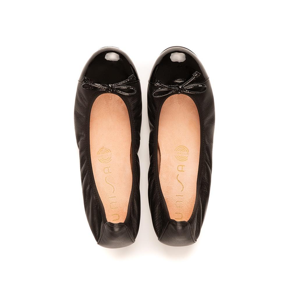 UNISA Ballerine contraste cuir verni AUTO_F19_NA_PA black 3