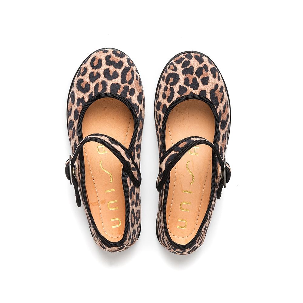 UNISA Mary Jane pour fille léopard rose SEYLA_F19_SLEO roxe 3