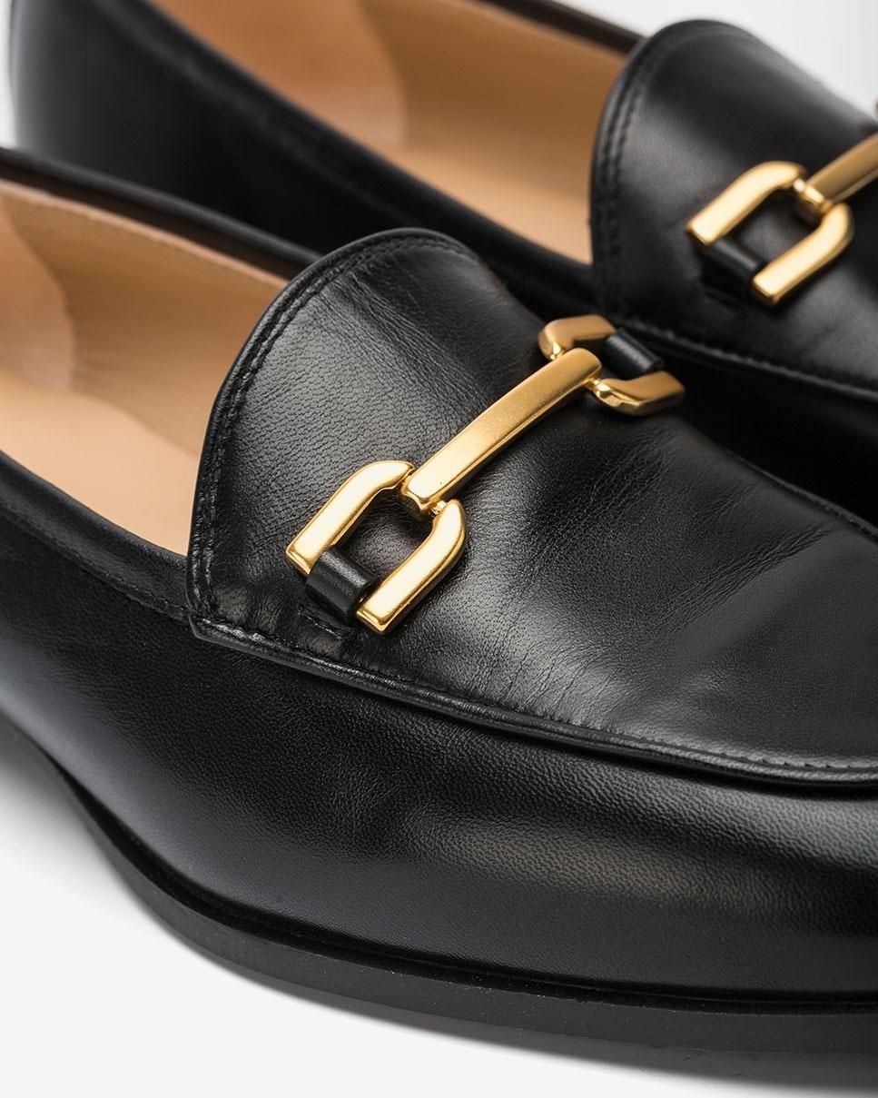 UNISA Mocassins noires en cuir DAIMIEL_F20_NA black 3