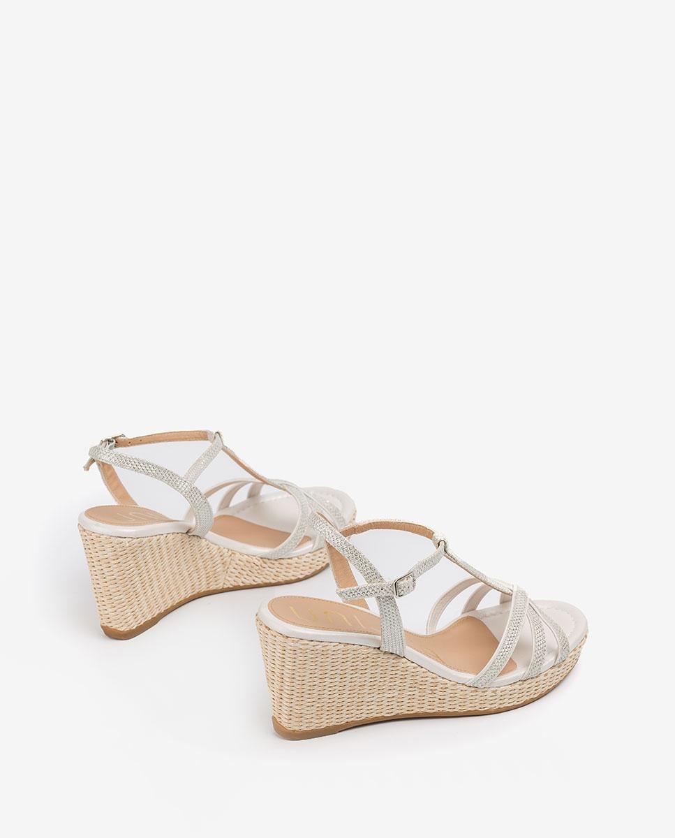 UNISA Sandale T-strap mariée  LLINAR_EV_NA_N white/bone 3
