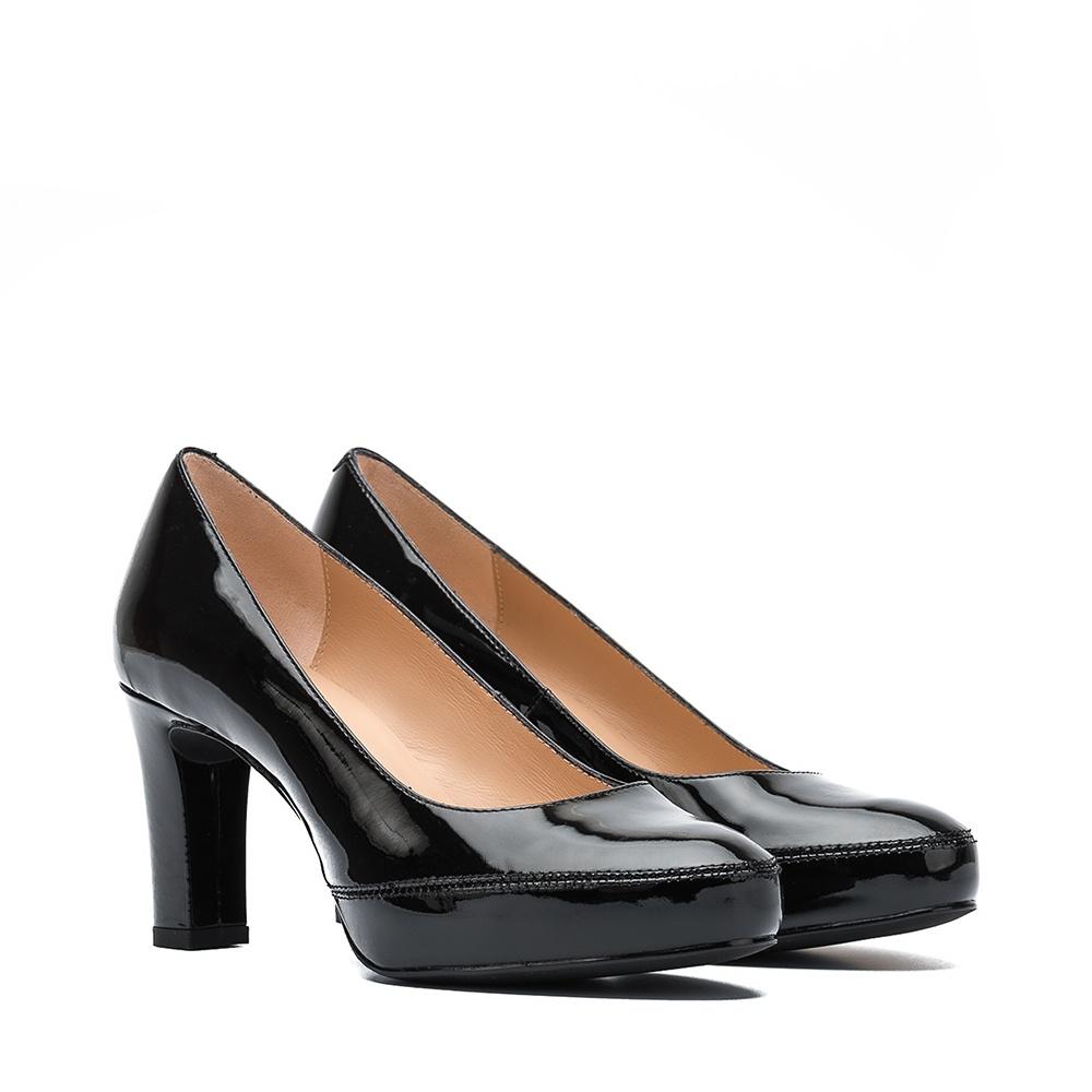 UNISA Escarpin classique en cuir verni avec talon NUMAR_CLASSIC_F19_PA black 3