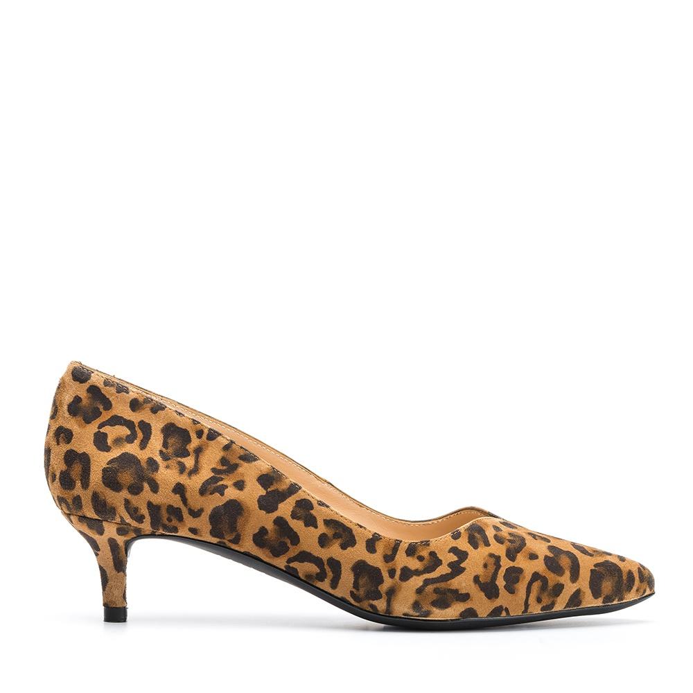 UNISA Escarpin léopard kitten heel JEDI_KL ginger 3