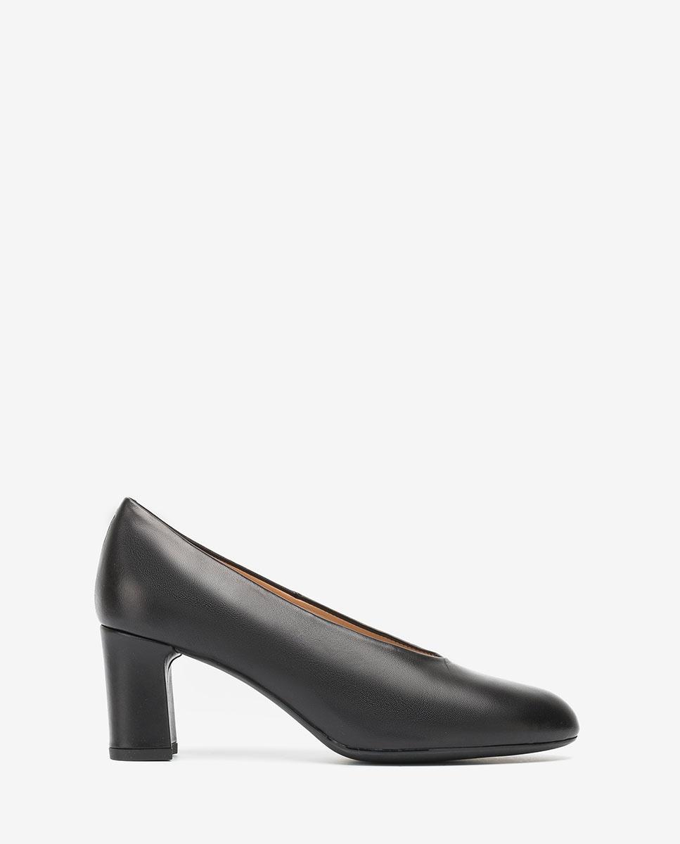 UNISA Escarpins de femme en cuir noirs MARIOS_NA black 3