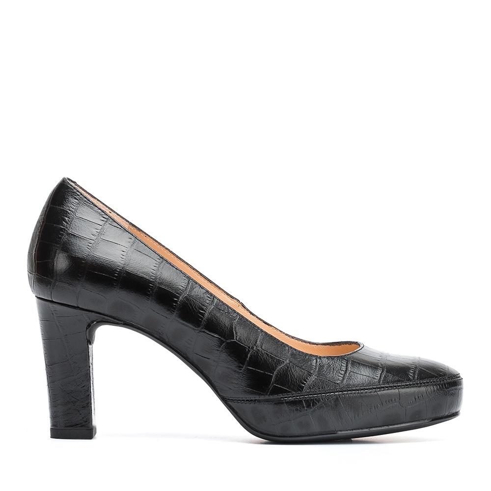 UNISA Escarpin en cuir crocodile NUMAR_CLASS_F19_CRO black 3