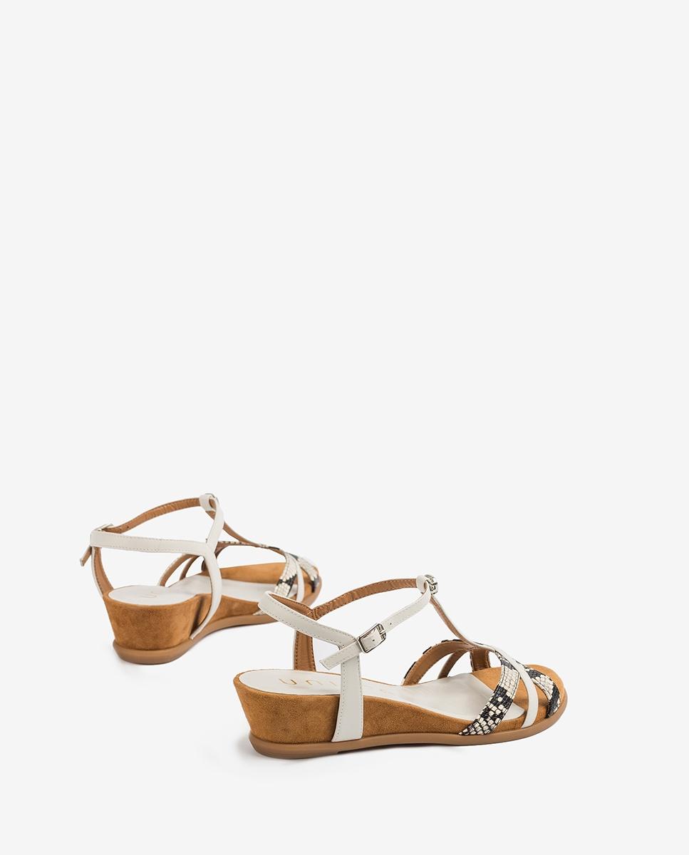 UNISA Sandale compensée brides contraste BINAR_VIP_NA nacar/ivor 3
