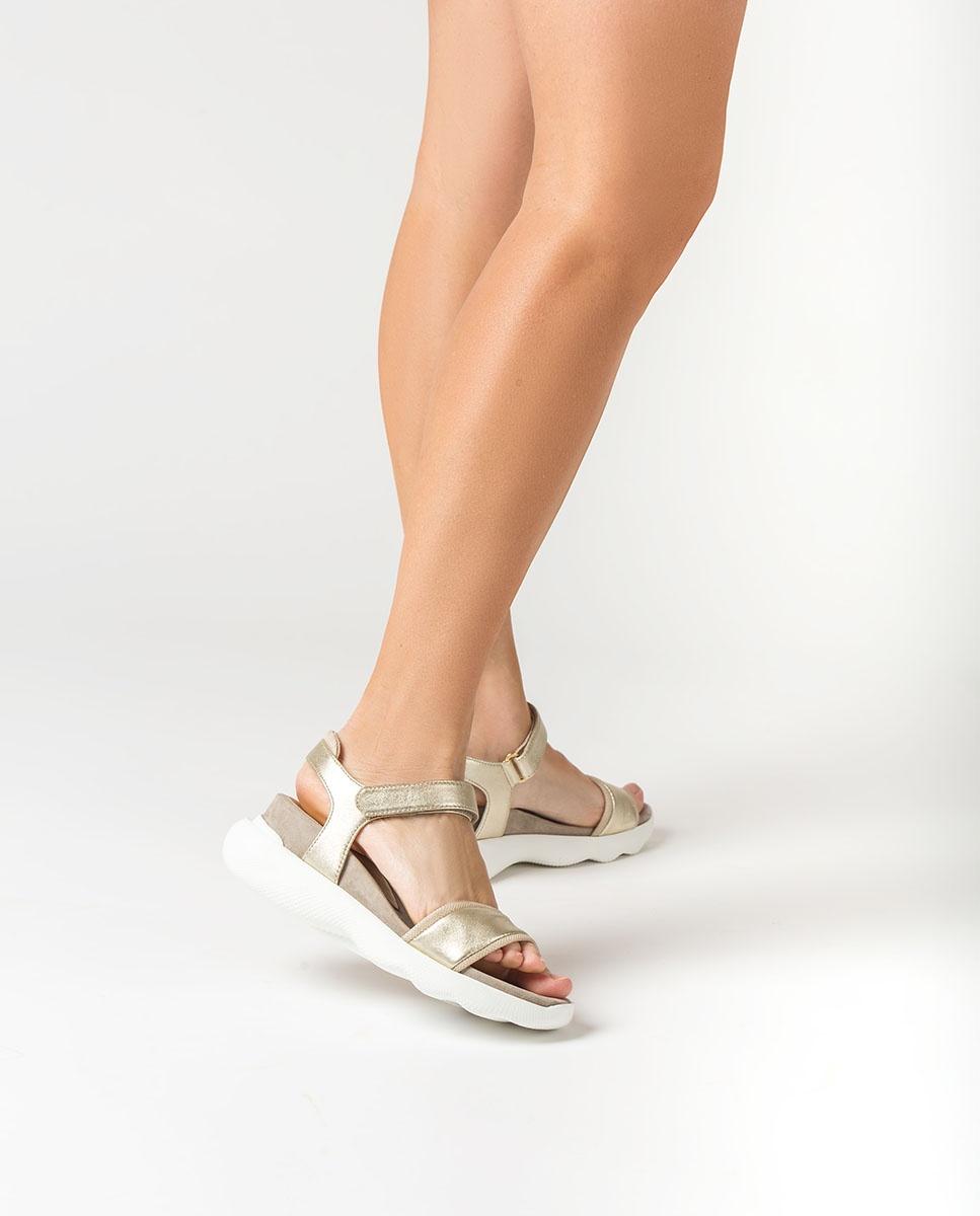 UNISA Sandales sport métallisées BOLO_LMT platino 3