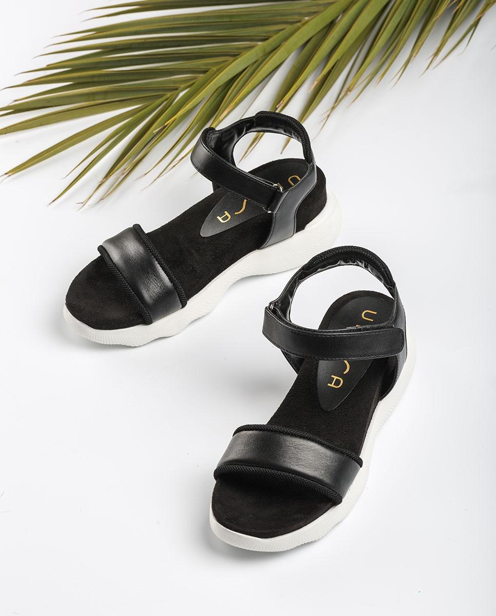 UNISA Sandales sport contraste BOLO_NAT black 3