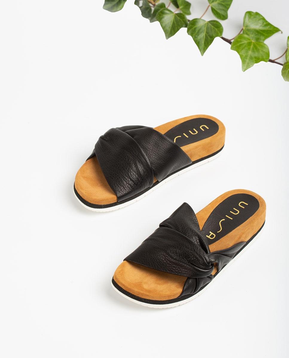 UNISA Sandale en cuir à lanières tubulaires CHELIN_STY  black 3