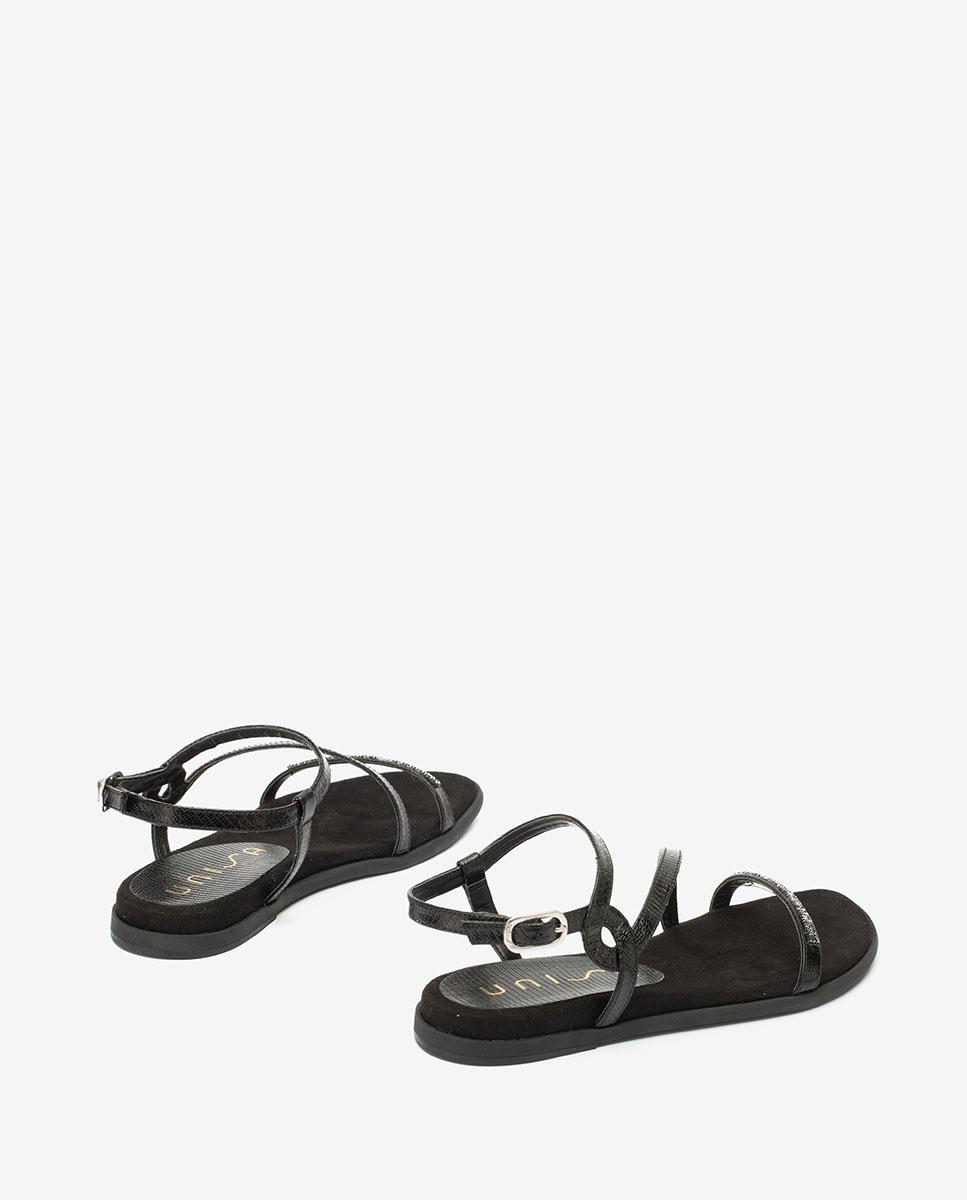 UNISA Sandale plate Swarovski  CLARIS_LI  black 3