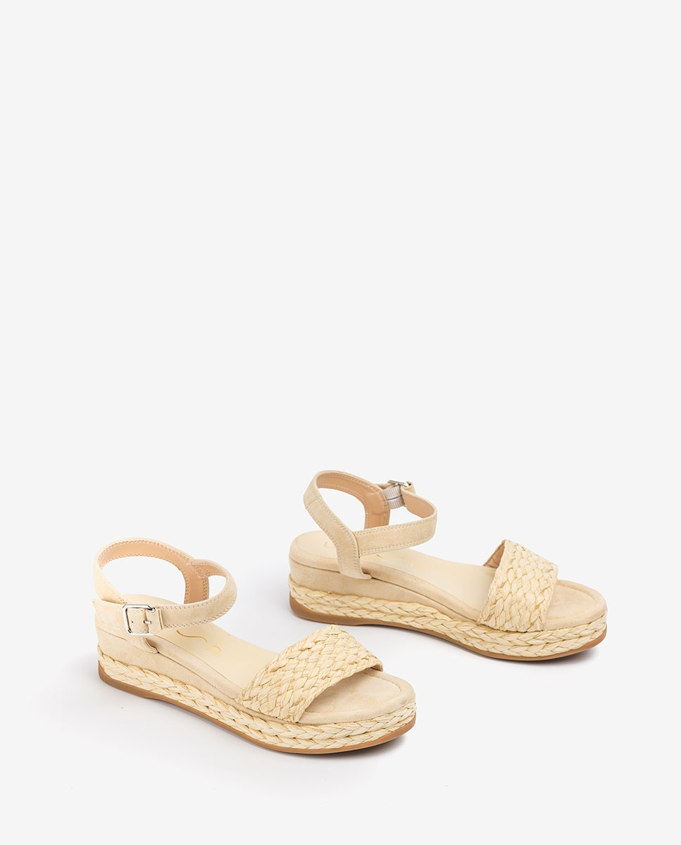 UNISA Sandale tressagee daim GABIR_KS nut 3