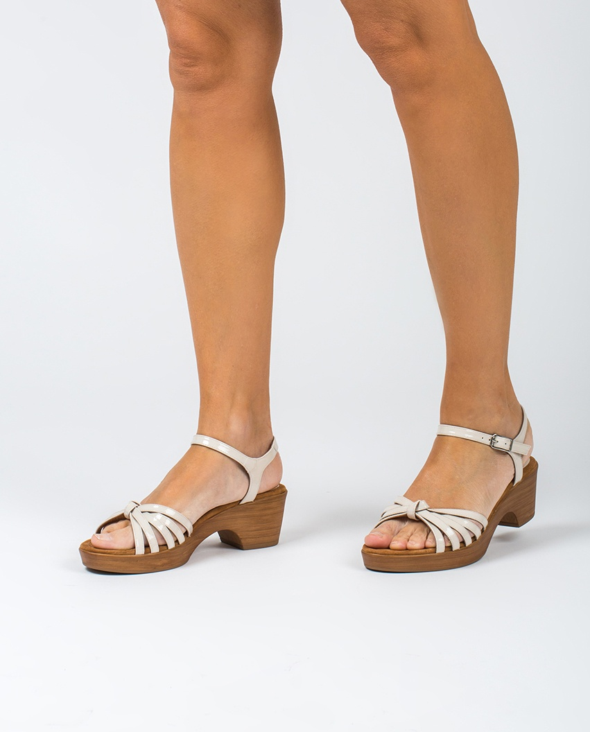 UNISA Sandale blanche multi lanières IMMA_PA ivory 3