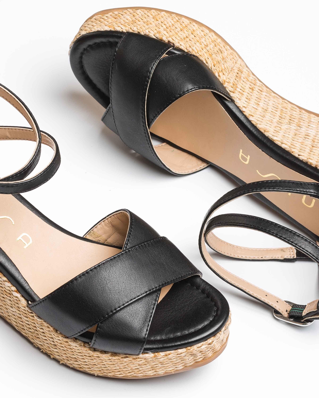 UNISA Sandale bandes avec semelle compensée KANOA_STY black 3