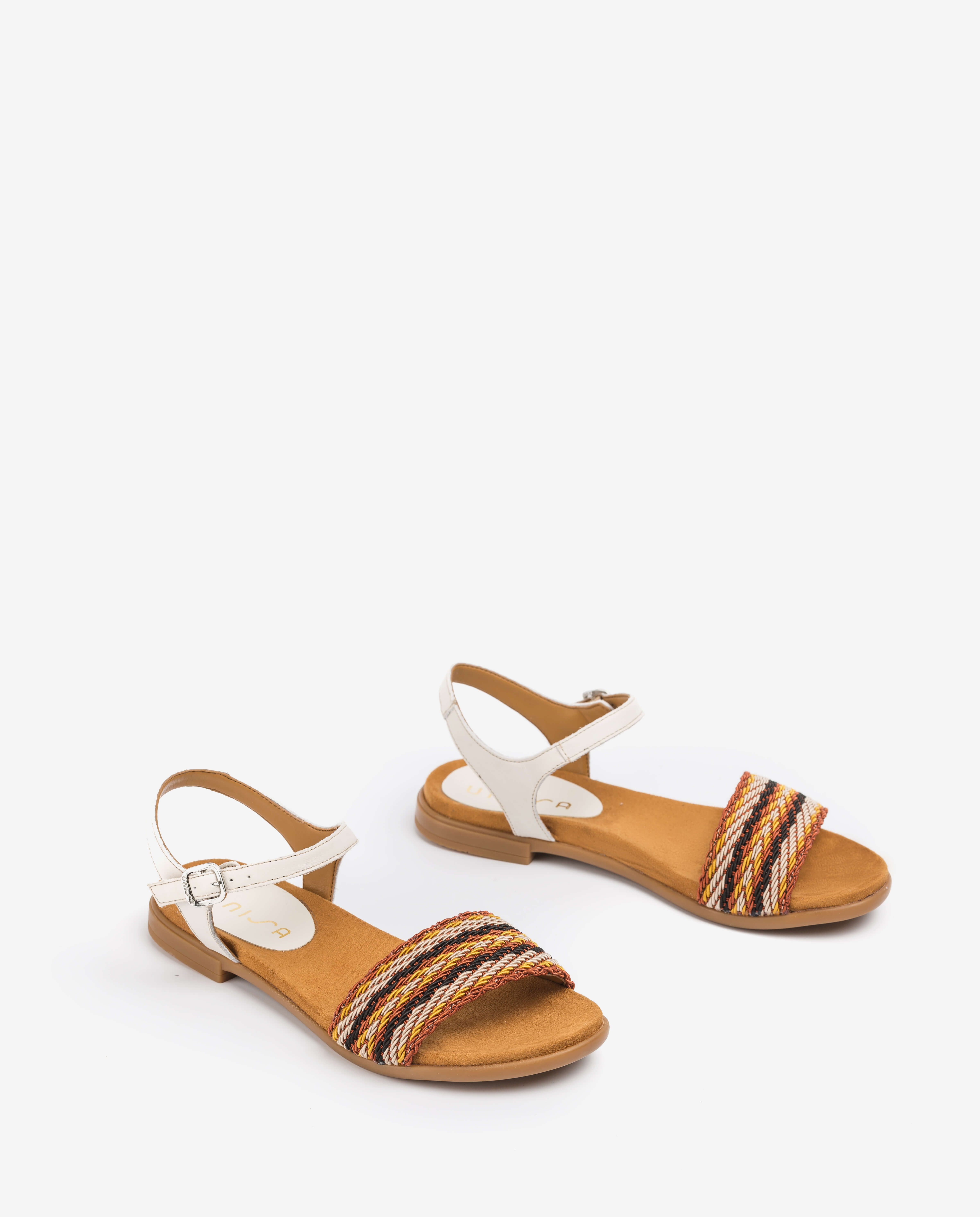 UNISA Sandale fille mule tressagee LINTA_NF_CAN ivory 3
