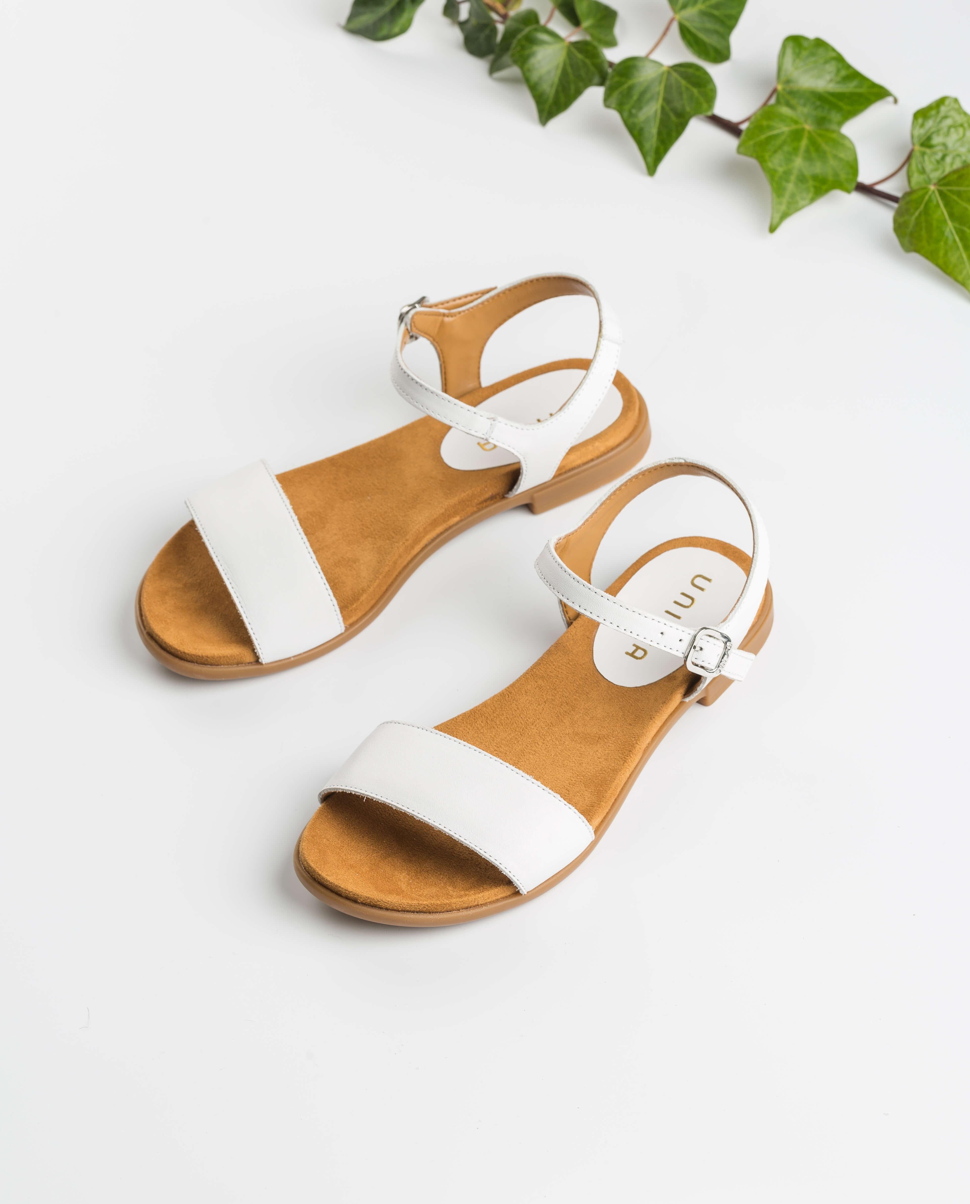 UNISA Sandale blanche pour fille LIRITA_20_C_NT_CAN white 3