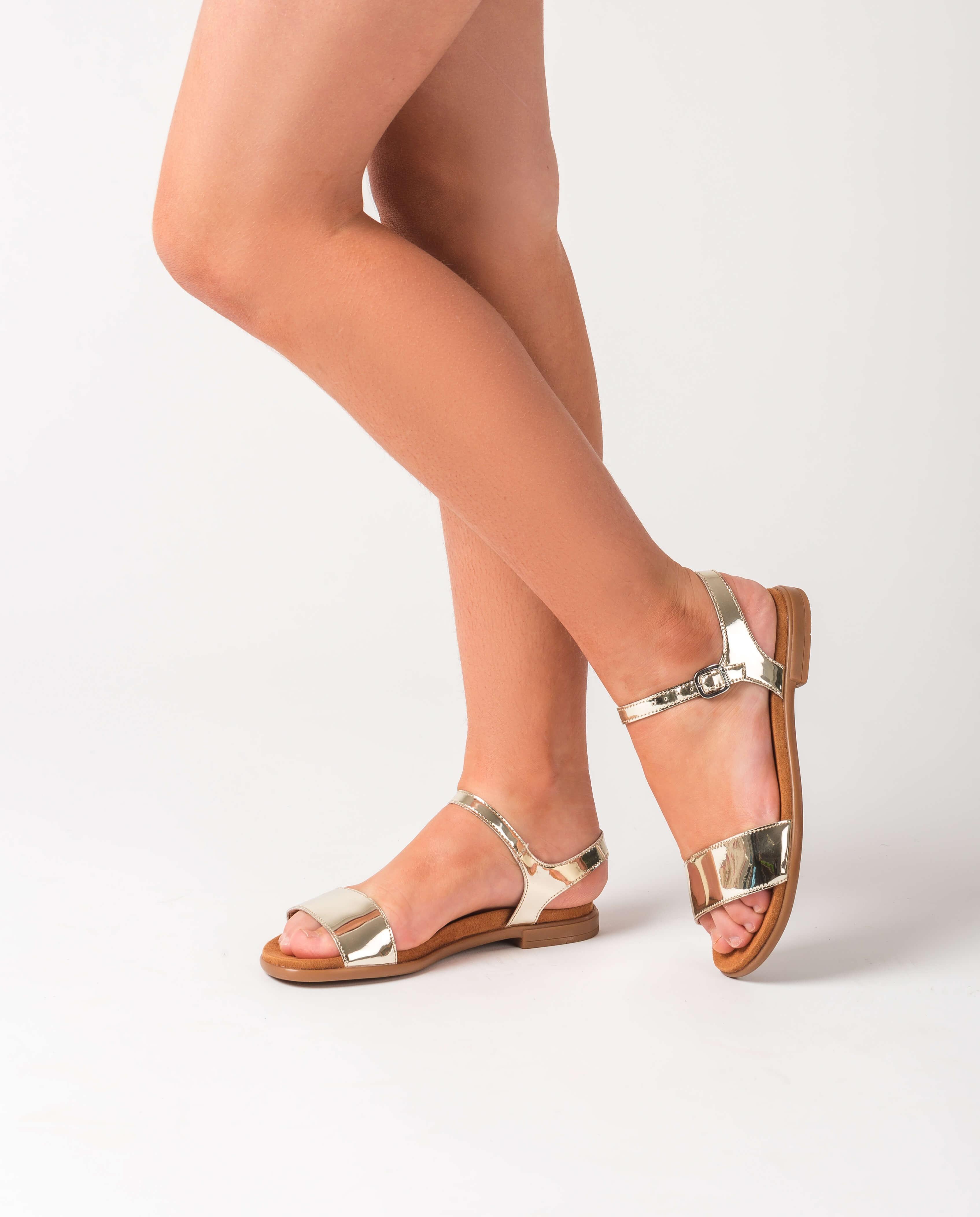 UNISA Sandale pour fille argentée LIRITA_20_C_SP_CAN platino 3
