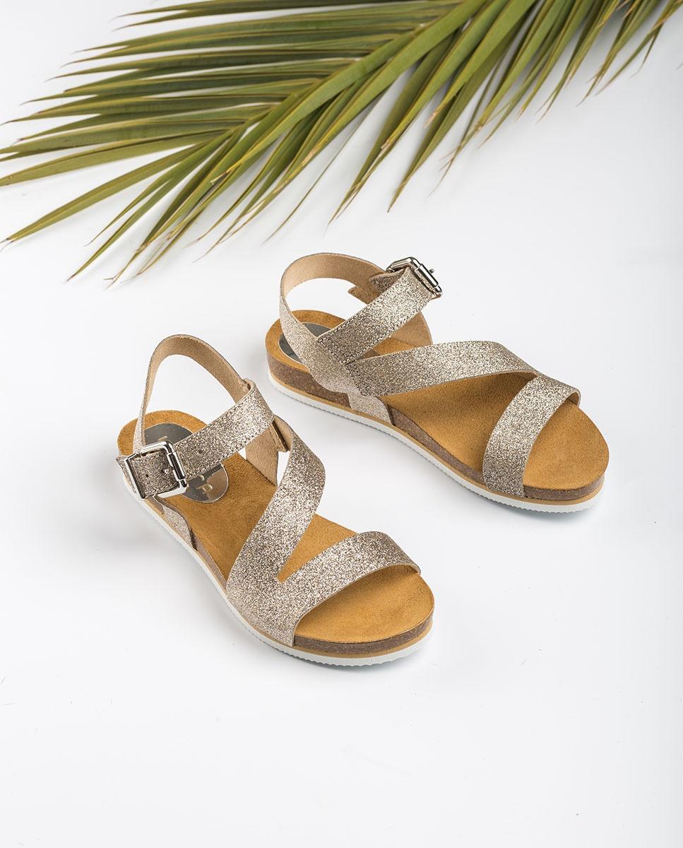 UNISA Sandale fille bio métallisée MAKENA_BRI mumm 3