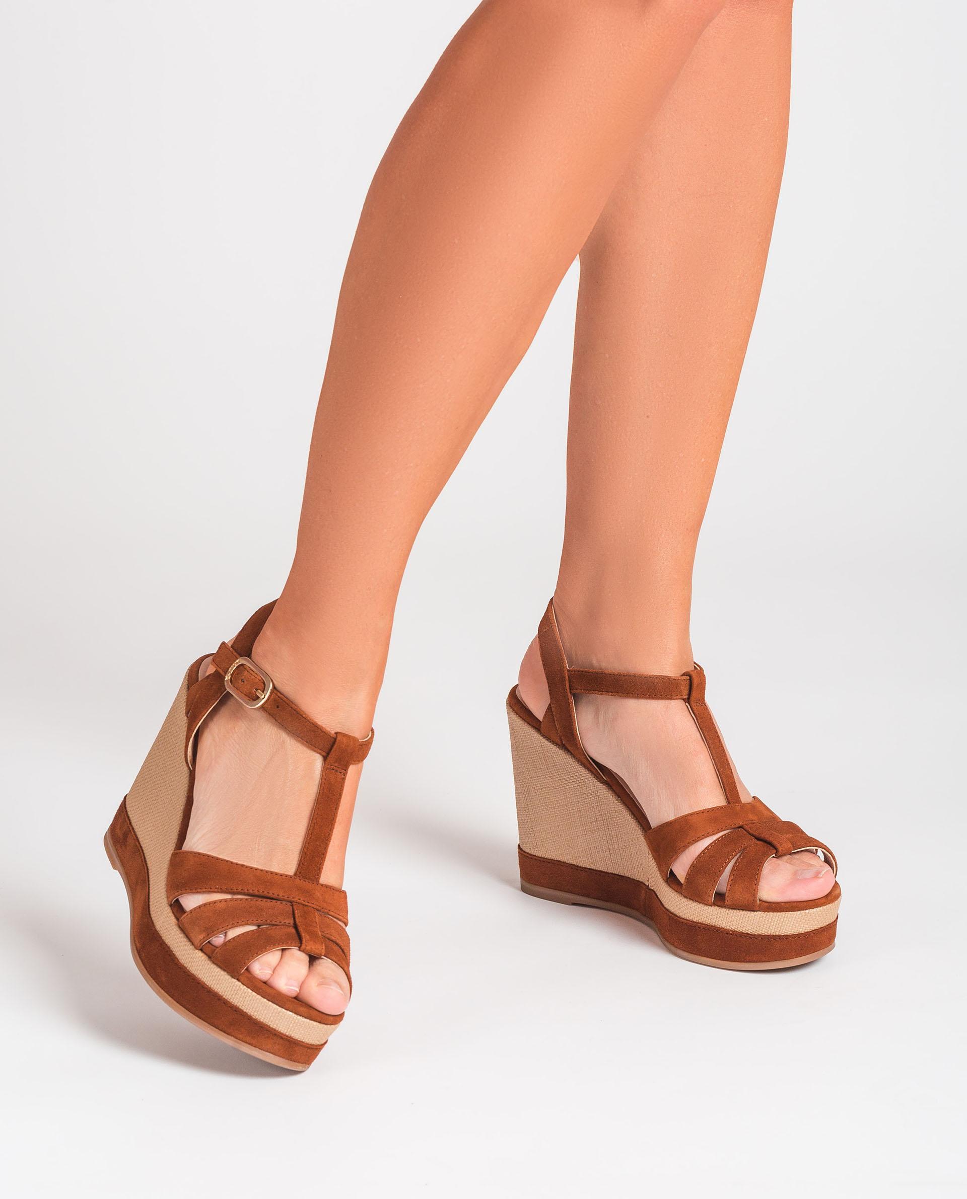 UNISA Sandale T-strap en daim  MANACOR_KS 3