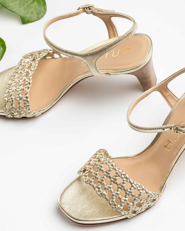 UNISA Sandale métallisée macramé MAXWEL_LMT platino 3