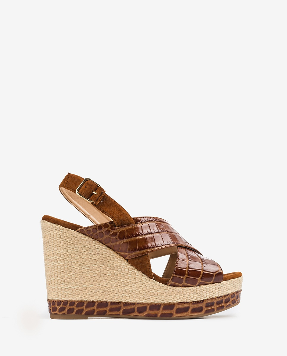 UNISA Sandale contraste crocodile MIGUEL_CRW_KS saddle/cui 3