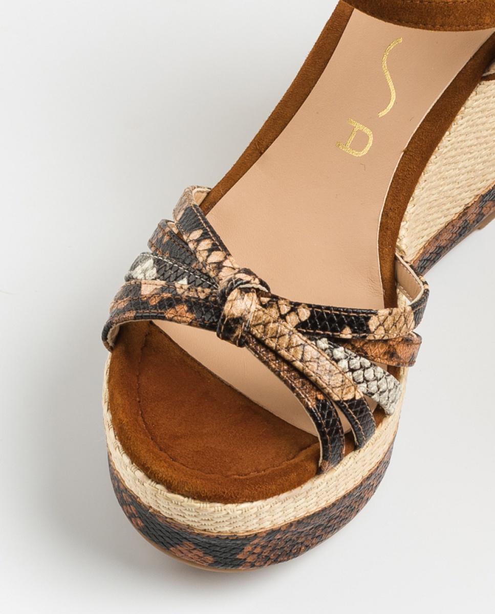UNISA Sandale compensée nœud serpent MIRELLA_VIP_KS tek/sun/na 3