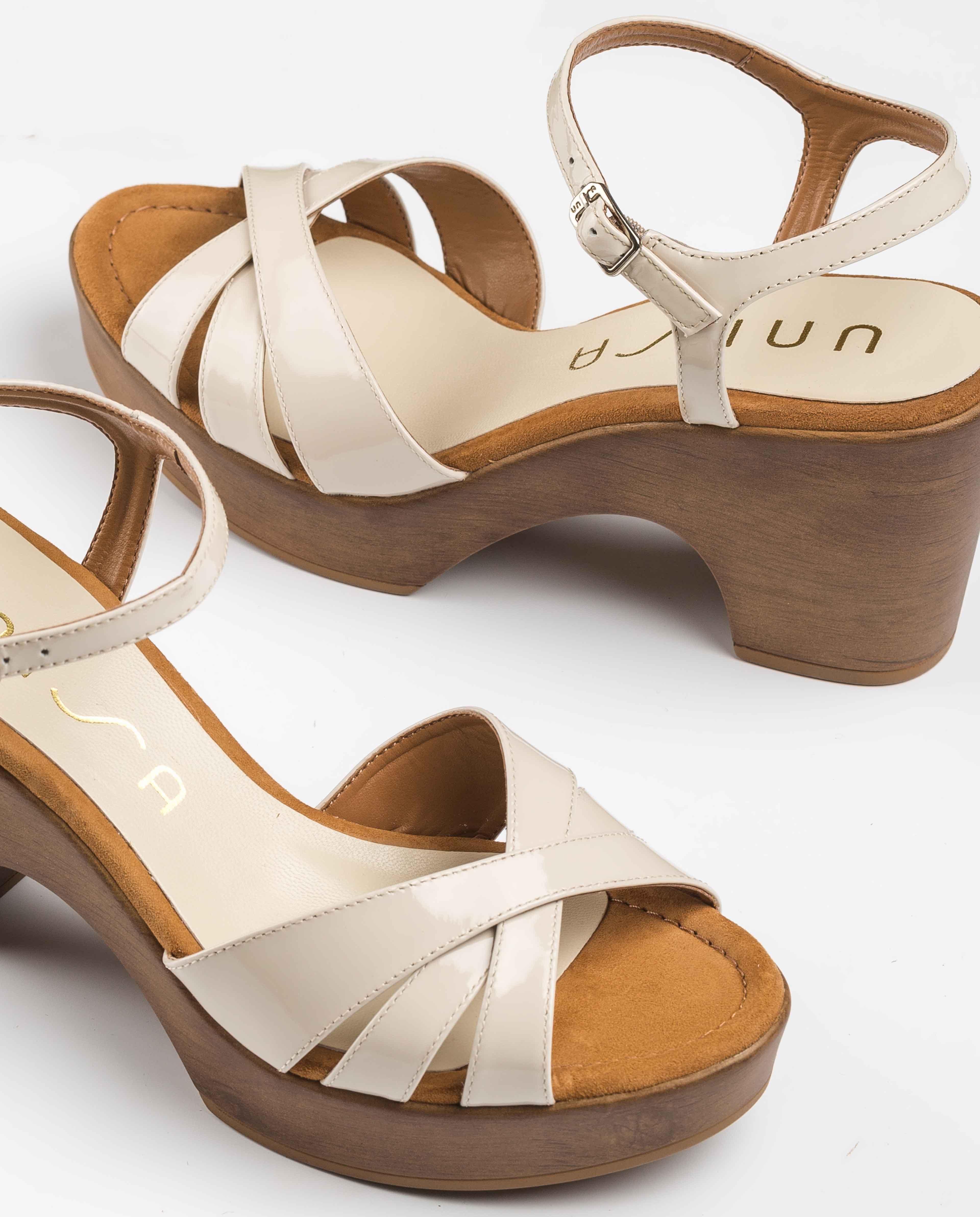 UNISA Sandales bloc blanches ONETA_PA ivory 3