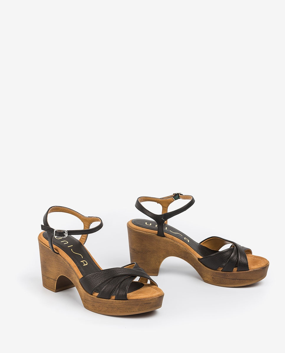 UNISA Sandales en cuir bloc ONETA_STY black 3