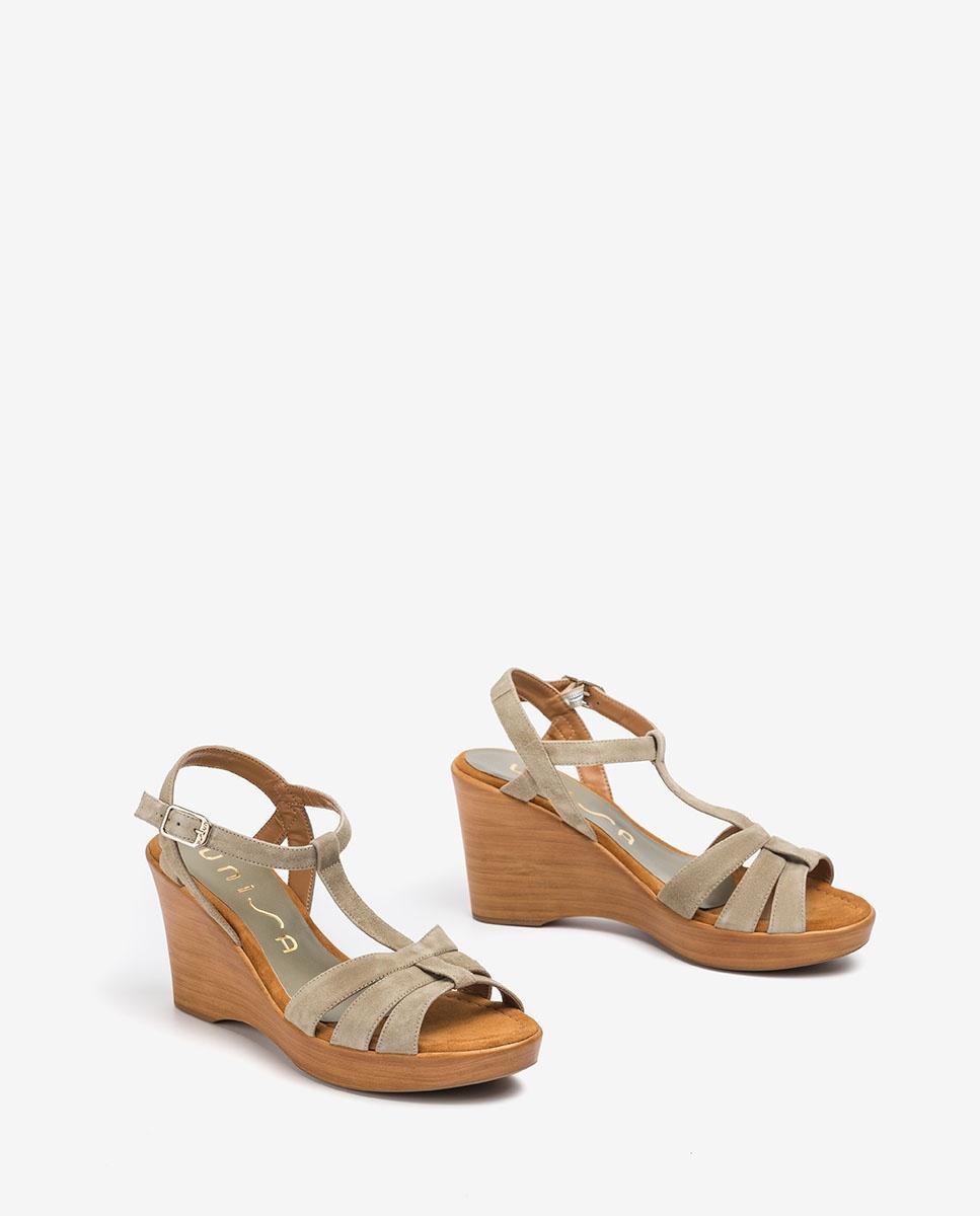 UNISA Sandale T-strap daim RAMOS_KS lauro 3