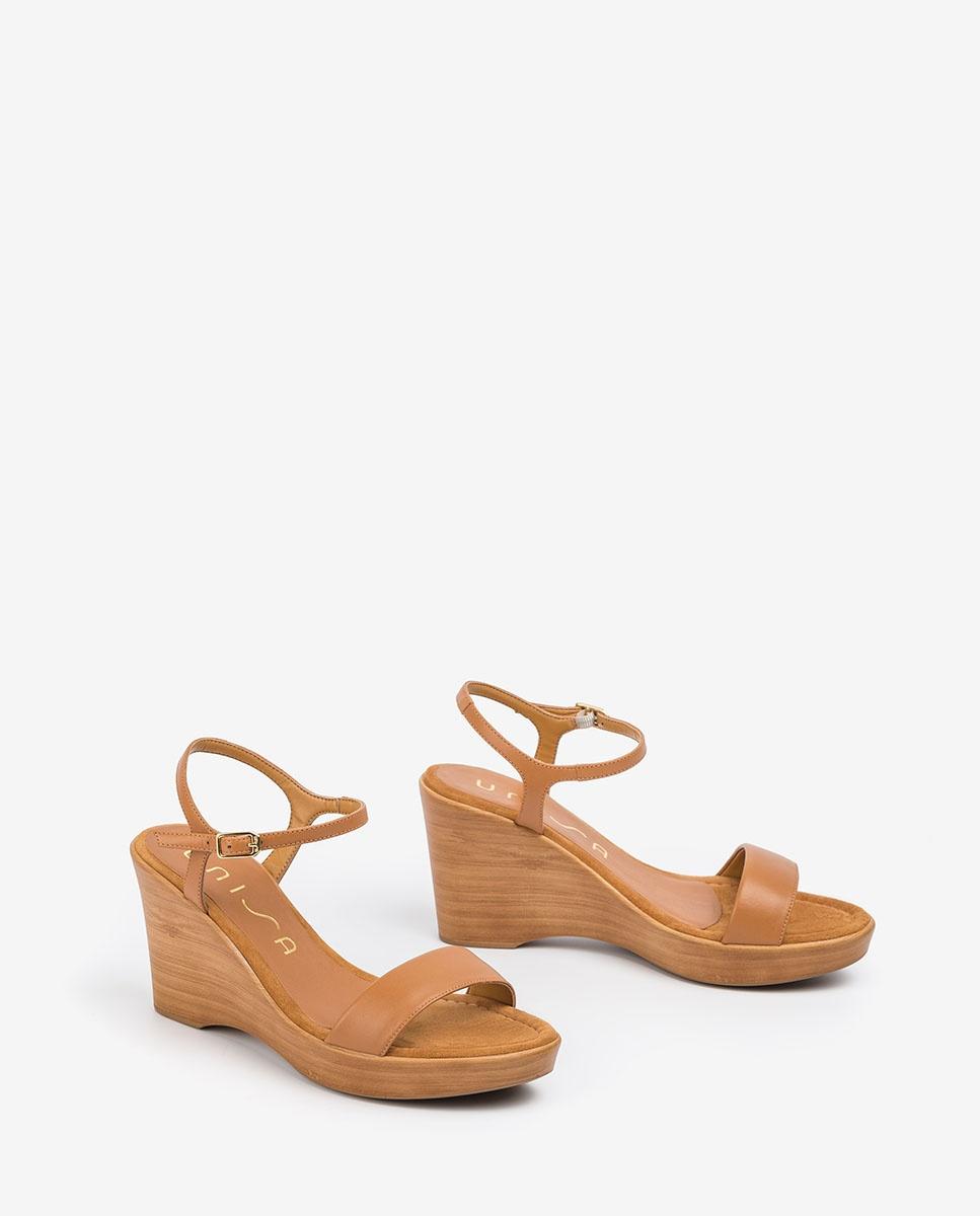 UNISA Sandale cuir bloc RITA_20_NA bisquit 3