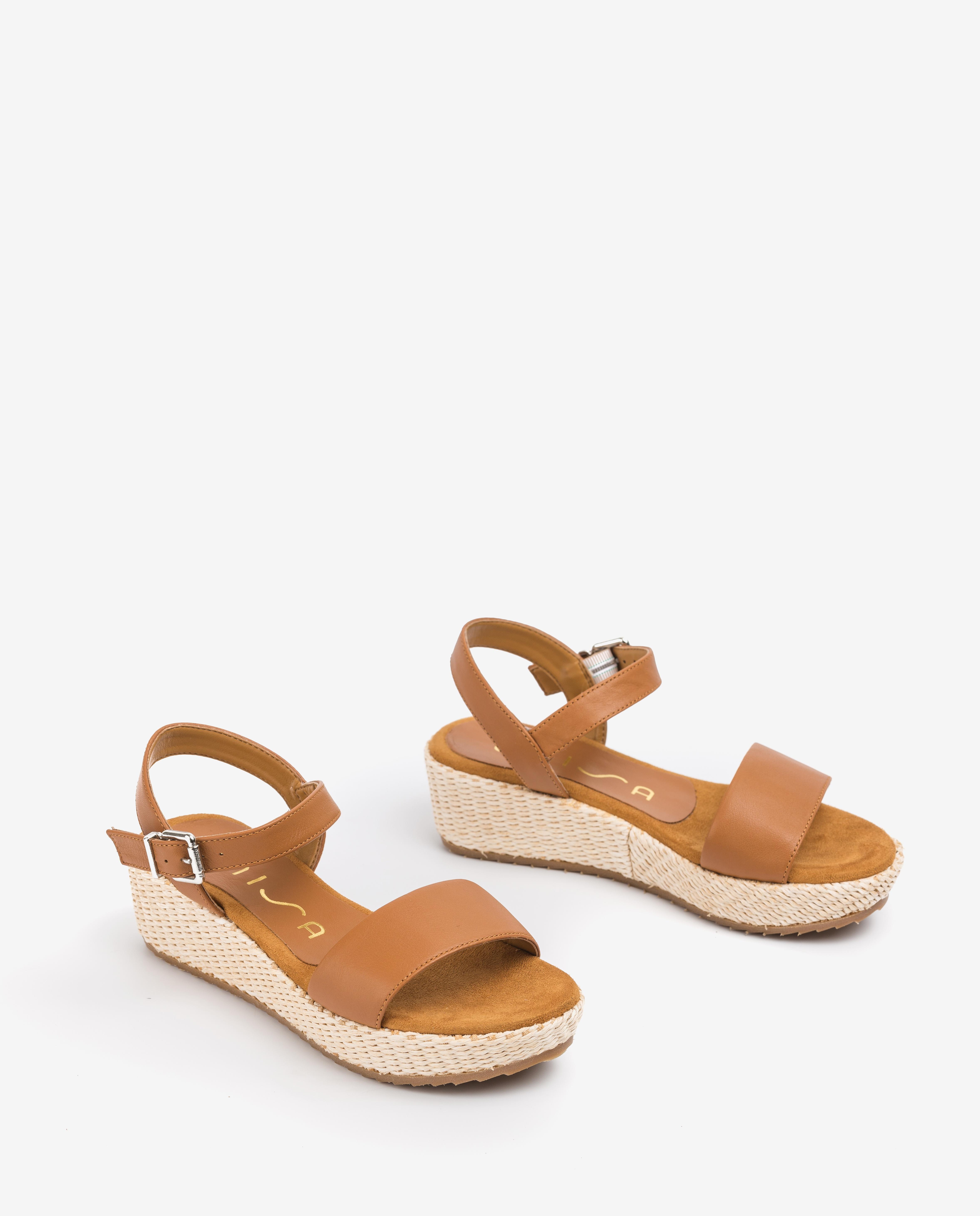 UNISA Sandale fille cuir compensée TERETE_20_R_NT bisquit 3