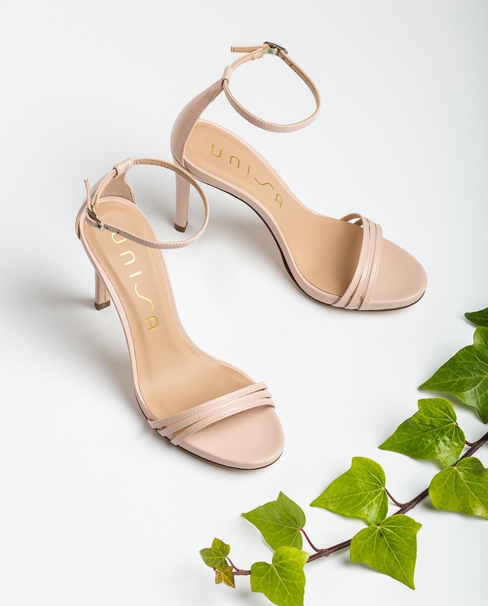 UNISA Sandale talon lanières rose clair YADIN_NA pale 3